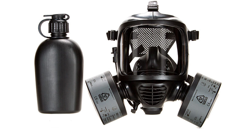 Mira Safety CM-6M Gas Mask with filters and canteen