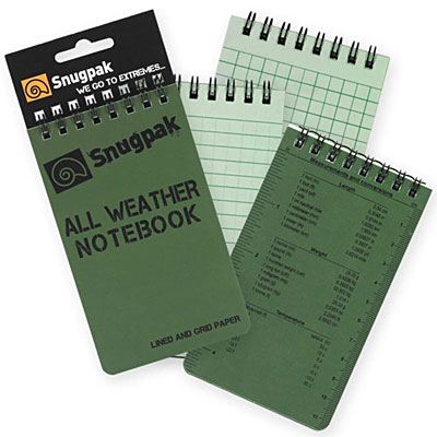 Snugpack All Weather Notebook Image of 4 Notepads Rite in the Rain