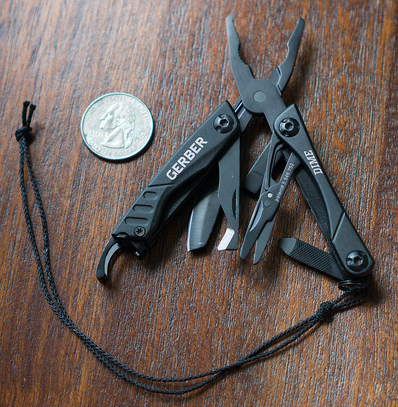 Gerber Dime Multitool size comparison