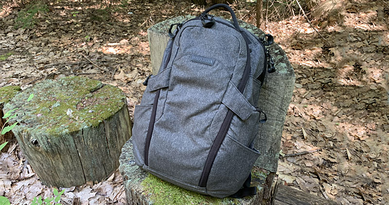 Maxpedition Entity 27 Backpack Sitting On Log