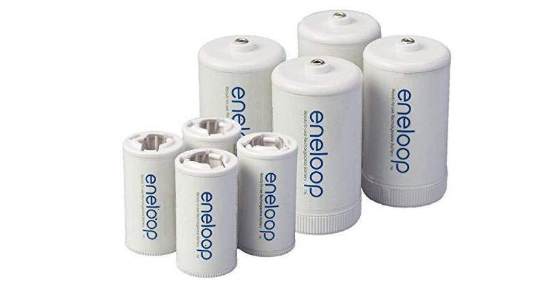 Panasonic eneloop spacer sizes AA, AAA, D or C
