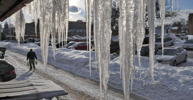 Prepare for winter storms by preventing icicles
