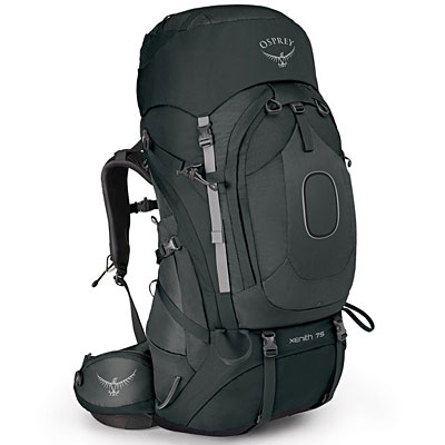 Osprey Xenith 75 backpack. Slick, high end, a dream of a backpack.