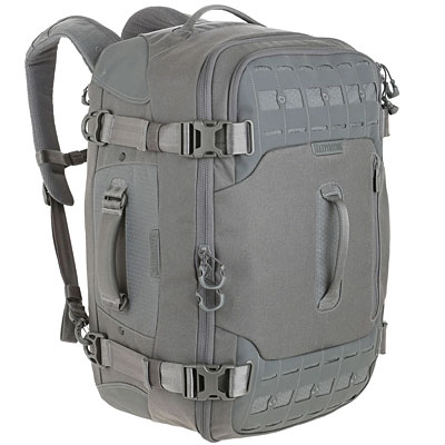 Maxpedition Ironcloud Adventure Travel Bag in Grey image. A duffel backpack hybrid built like a tank.