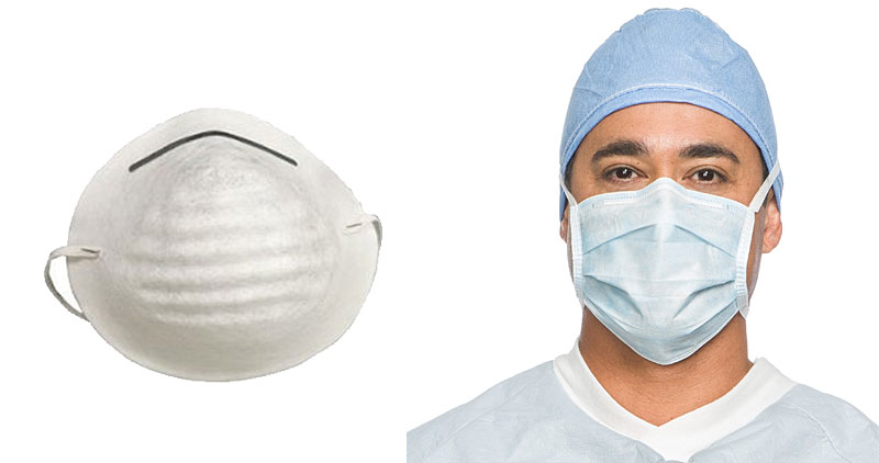 Dust masks and surgical masks