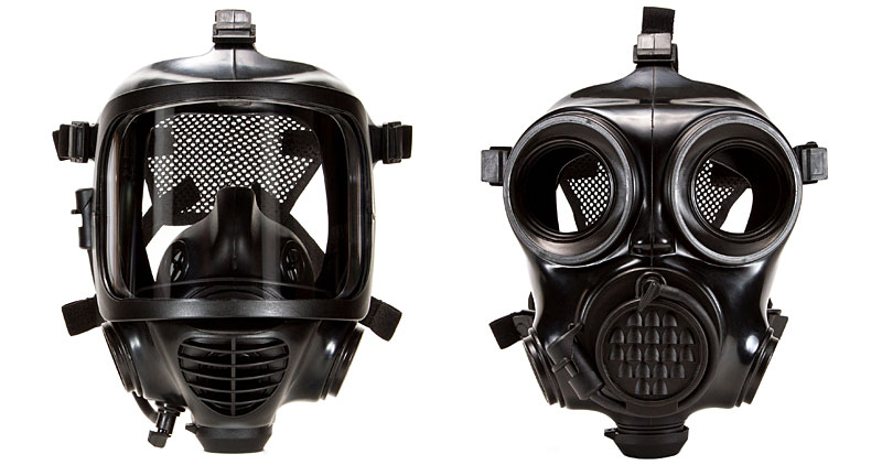 Mira Safety gas masks side-by-side
