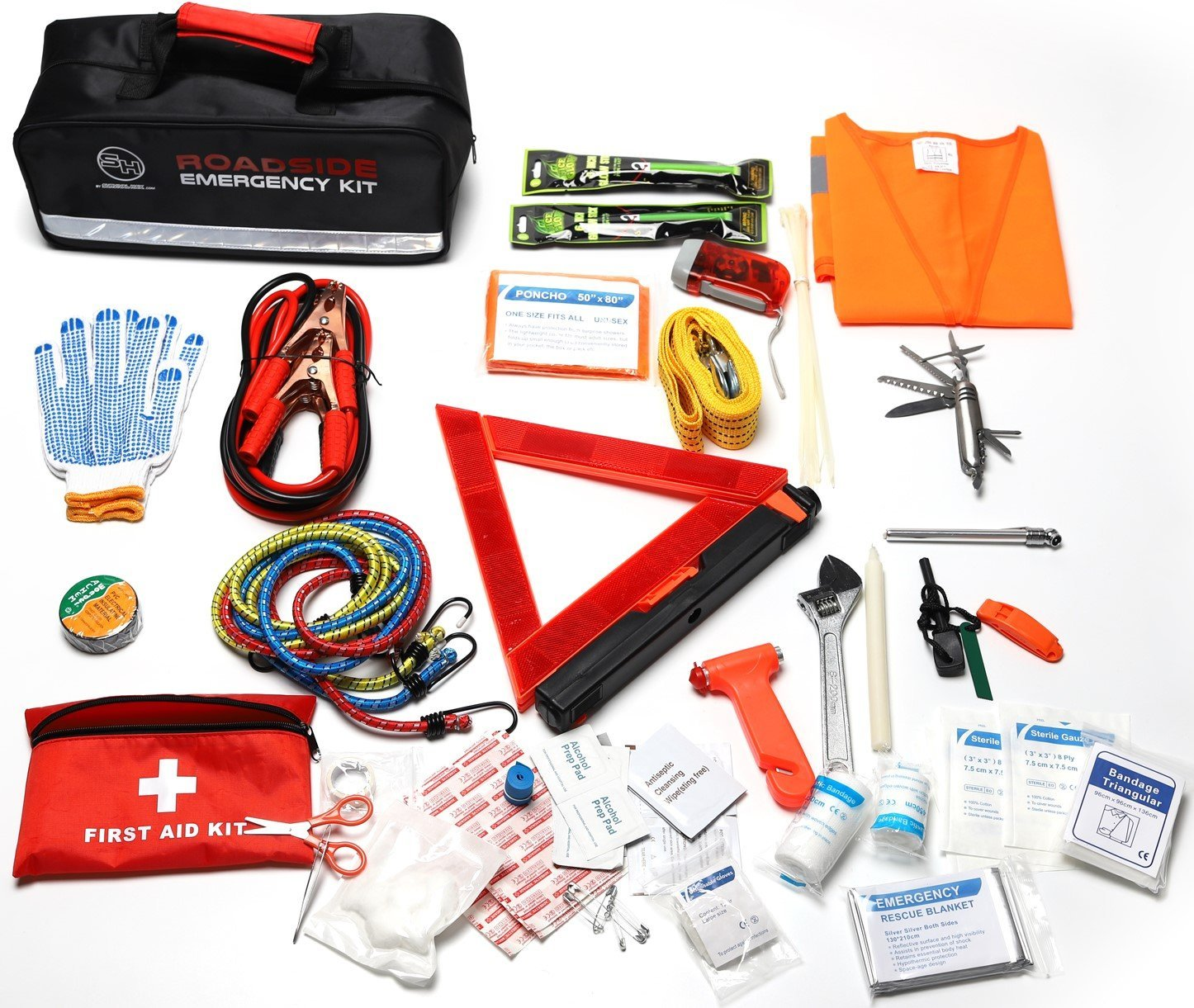 Survival Hax Roadside Emergency Kit contents