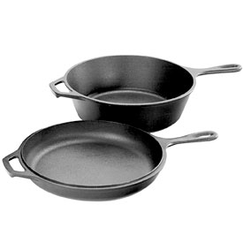 Lodge Pre-Seasoned Cast-Iron-Combo Cooker